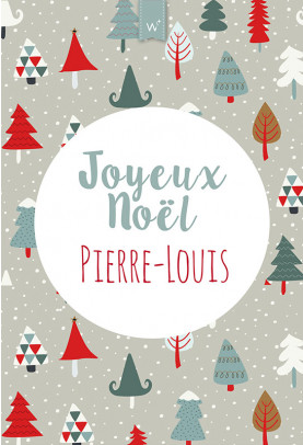 Joyeux Noël sapin gris sans photo