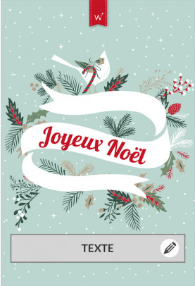 Joyeux Noël houx sans photo