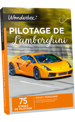 coffret cadeau pilotage de lamborghini box sport wonderbox. Black Bedroom Furniture Sets. Home Design Ideas