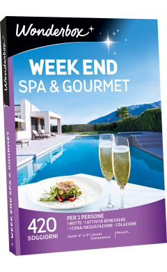Cofanetto regalo Week end spa & gourmet - Box viaggi - Wonderbox