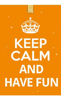 Zoom Keep calm orange