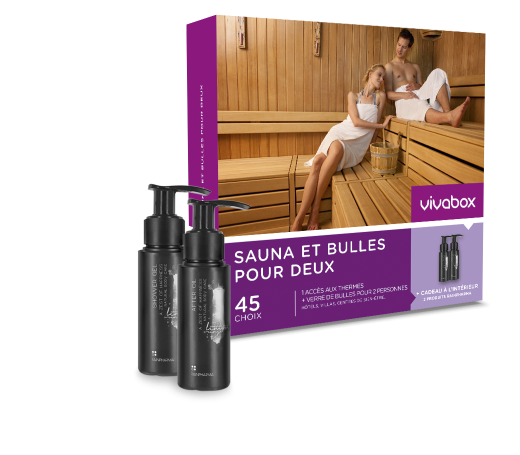 coffret cadeau sauna et bulles pour deux box bien tre vivabox. Black Bedroom Furniture Sets. Home Design Ideas