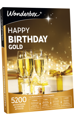 Zoom Happy Birthday Gold